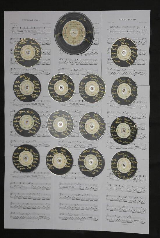 Nostalgie, Schallplatte, Papier, Melodie, Musik, Festplatte, Hinweis, Retro, Jahrgang, Anzahl