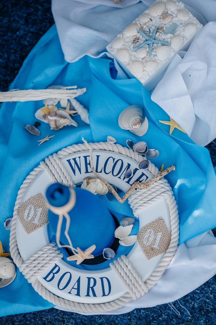 romantic, life preserver, seashell, decorative, decoration, love, traditional, romance, interior design, thread