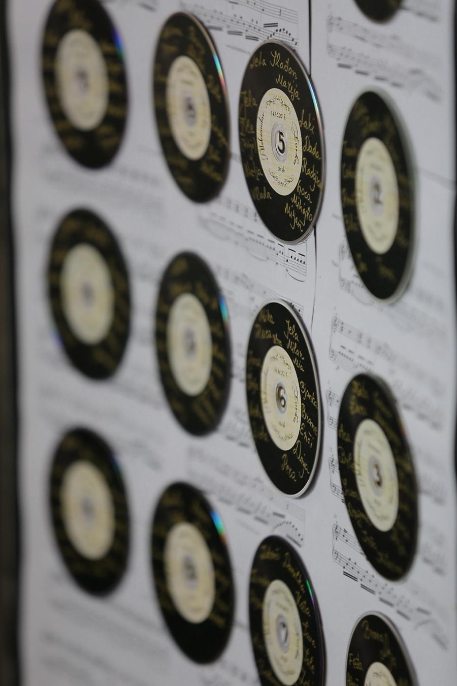 Schallplatte, musikalischen, Melodie, Musik, Song, Nostalgie, alt, Jahrgang, Antik, viele