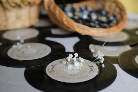 disque vinyle, romantique, décoratifs, fermer, musique, mélodie, à l'intérieur, nature morte, table, traditionnel