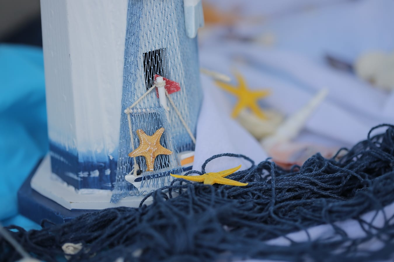 still life, seashell, handmade, miniature, blue, romantic, details, network, sea, summer