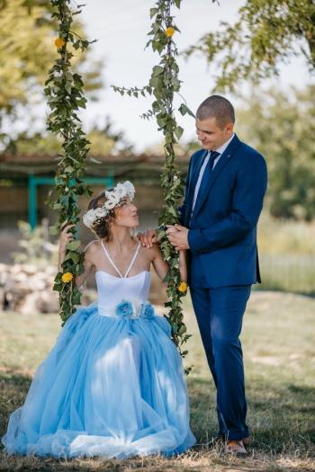молодожены, сельской местности, качели, моды, невеста, платье, жених, брак, Свадьба, любовь