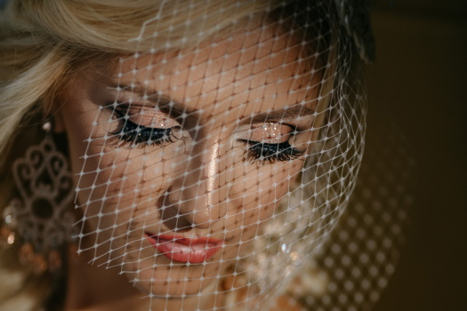 face, blonde hair, close-up, gorgeous, glamour, veil, young woman, pretty, eye, fashion