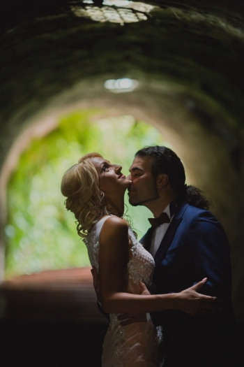 トンネル, ボーイフレンド, キス, ガール フレンド, グラマー, 女性, 豪華です, 花婿, 愛情, 愛