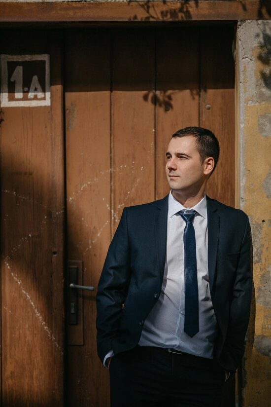 tuxedo suit, handsome, photo model, outfit, businessman, tie, posing, fashion, manager, side view