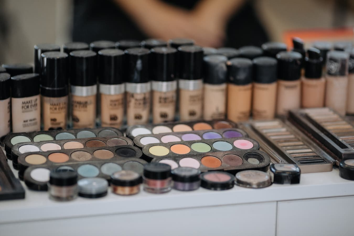 cosmetics, salon, powder, makeup, colors, professional, merchandise, products, crayon, checker