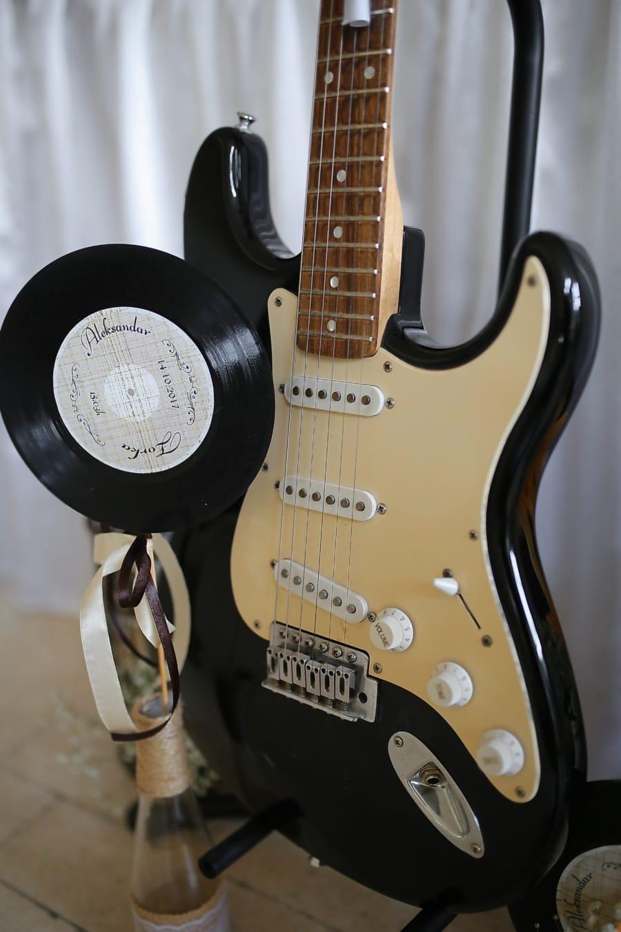 piringan hitam, gitar, melodi, musik, Suara, instrumen, musik, string, klasik, lama