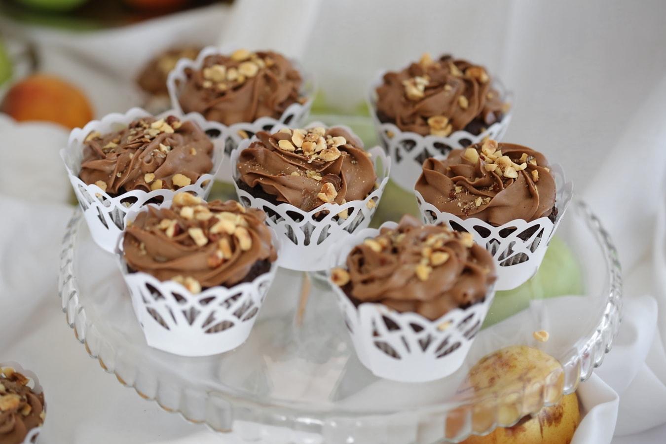 maison, brun clair, petit gateau, le petit déjeuner, chocolat, alimentaire, doux, délicieux, repas, dessert