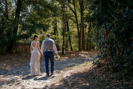 hodanje, Šumski put, upravo vjenčani, planinarenje, ljubav, djevojka, drvo, šuma, vjenčanje, angažman