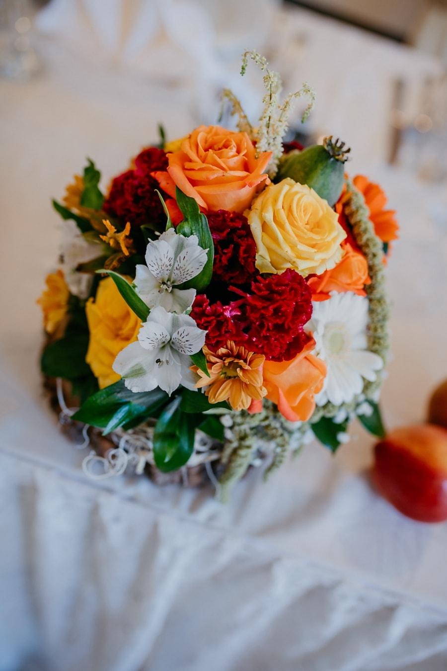 pastel, couleurs, bouquet, amour, Rose, arrangement, fleur, romance, décoration, feuille
