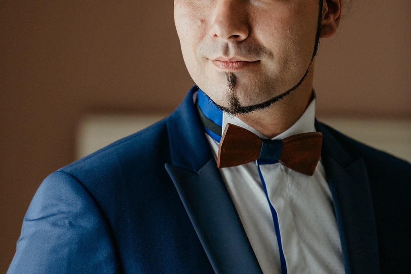leather, bowtie, tuxedo suit, face, neck, businessman, style, beard, fashion, head
