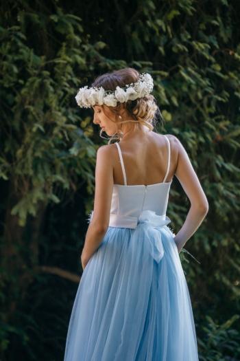 Princezná, blond vlasy, šaty, rameno, nádherná, sukňa, pôvab, svadba, móda, nevesta