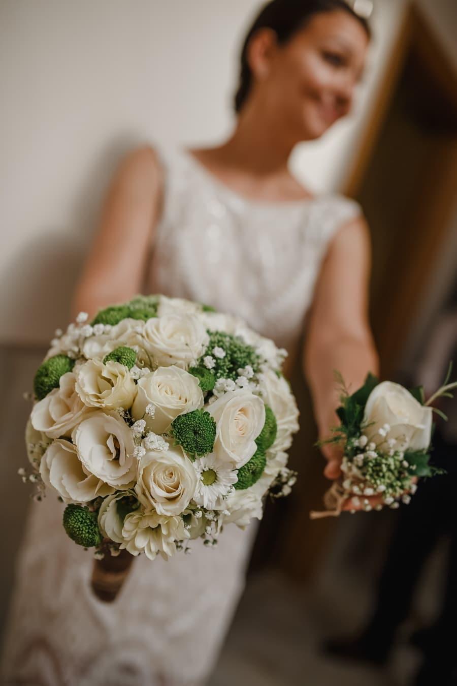 lady, innehav, bröllop bukett, gift med, bröllop, bruden, bukett, blommor, Kärlek, äktenskap