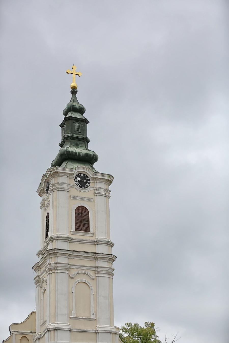 ruski, pravoslavlje, crkva, crkveni toranj, arhitektura, religija, toranj, zgrada, križ, staro