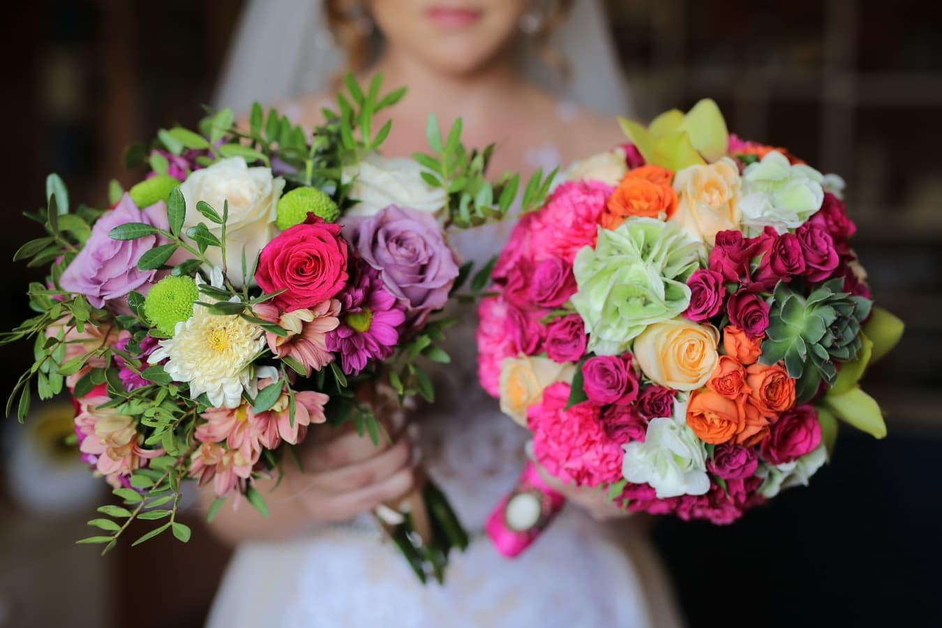 bruidsboeket, zin in hebben, bedrijf, bruid, boeket, bloem, decoratie, romantiek, liefde, regeling