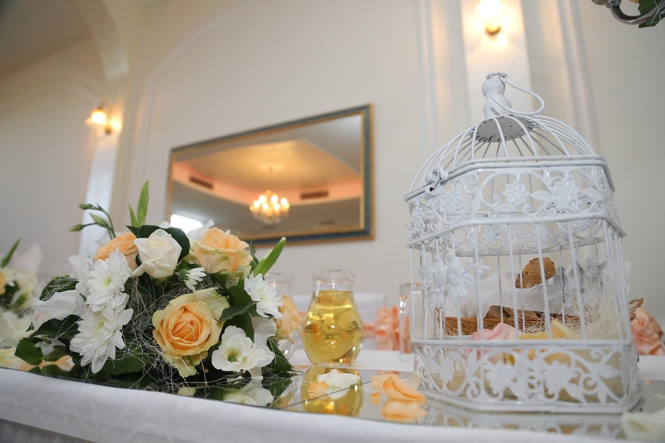 fantaisie, réception, décoration, table, fleurs, à l'intérieur, Design d'intérieur, fleur, élégant, bouquet