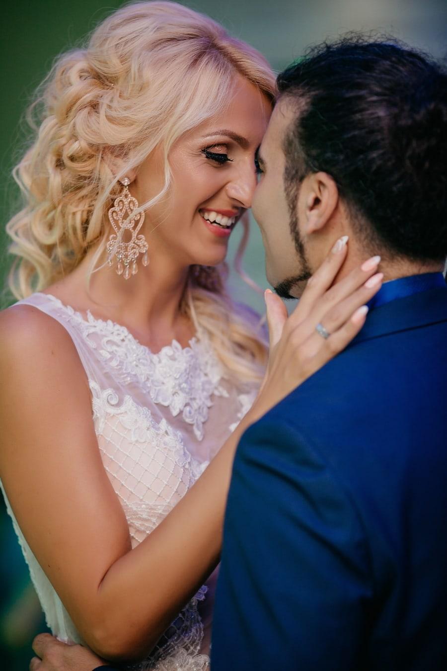 lips, affection, kiss, smile, portrait, face, beautiful, love, romantic, woman
