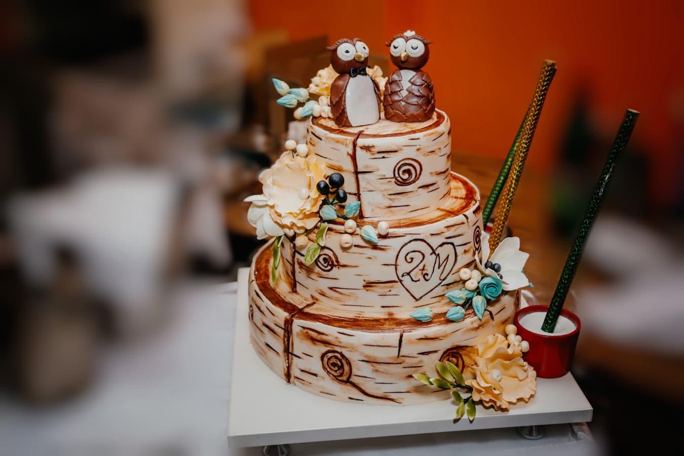 партія, торт, Пінгвін, мініатюрні, прикраса, шоколад, крем, їжа, Цукор, солодкий