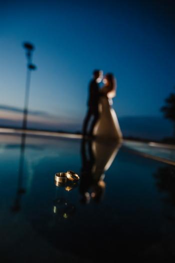 金色的光芒, 婚戒, 环, 晚上, 晚上, 男朋友, 浪漫, 女朋友, 剪影, 人
