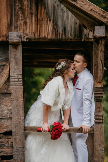 花婿, キス, 紳士, 花嫁, コテージ, 結婚式, ロマンス, 婚約, 愛, 女性