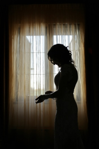 slim, pretty girl, silhouette, shadow, standing, alone, window, girl, light, curtain