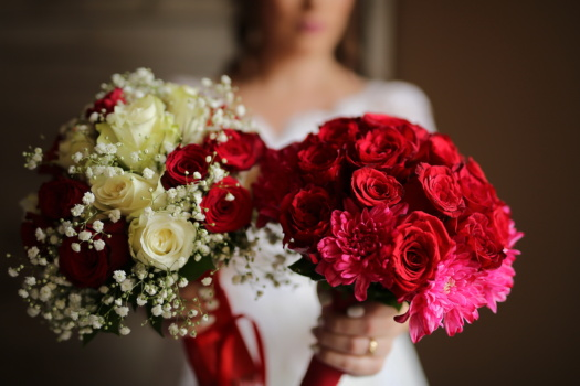 wedding, wedding bouquet, roses, red, bouquet, bride, romance, love, flower, rose