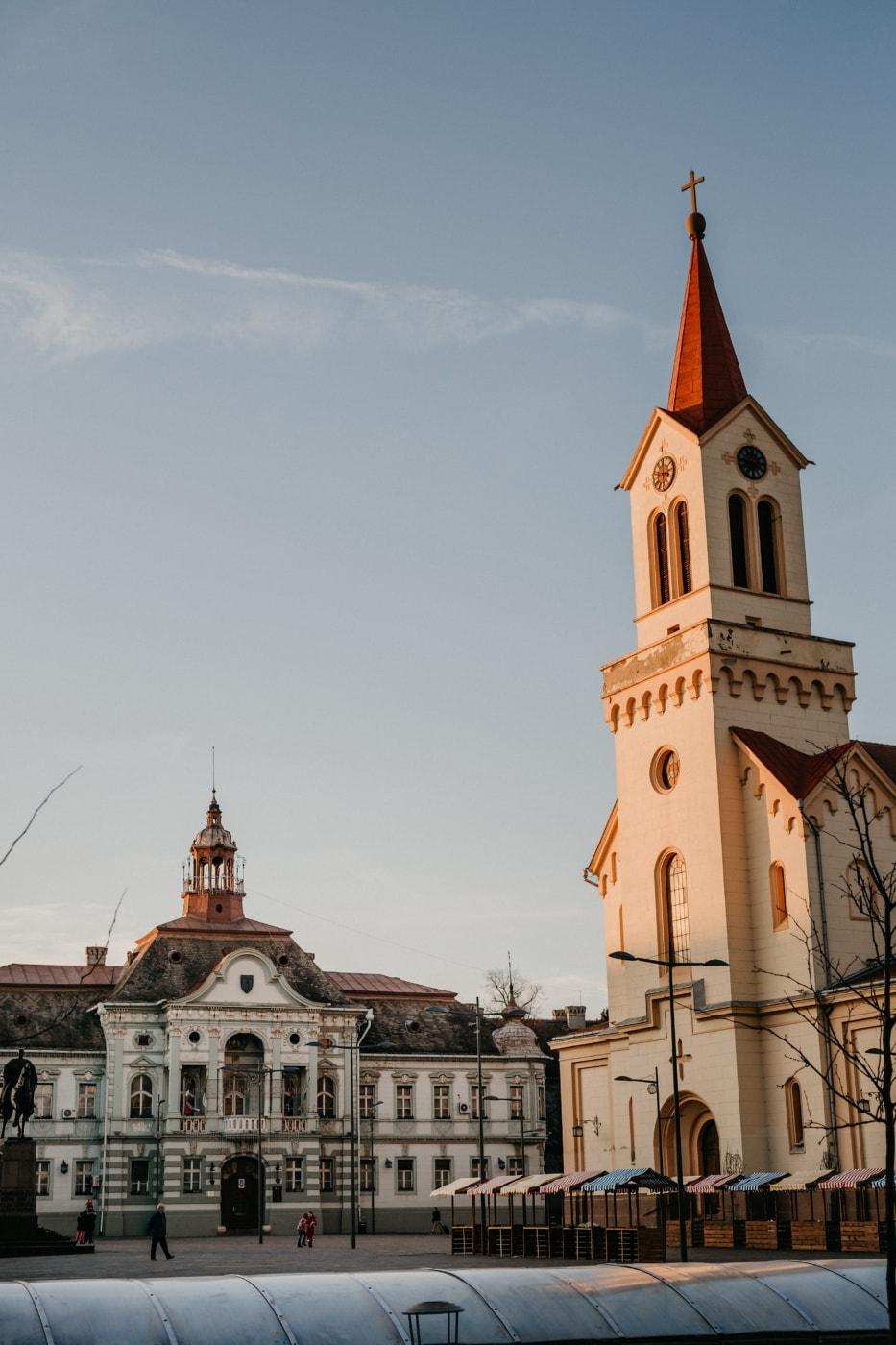 в центъра, пребиваване, сгради, Барок, улица, град, забележителност, Църквата кула, сграда, архитектура