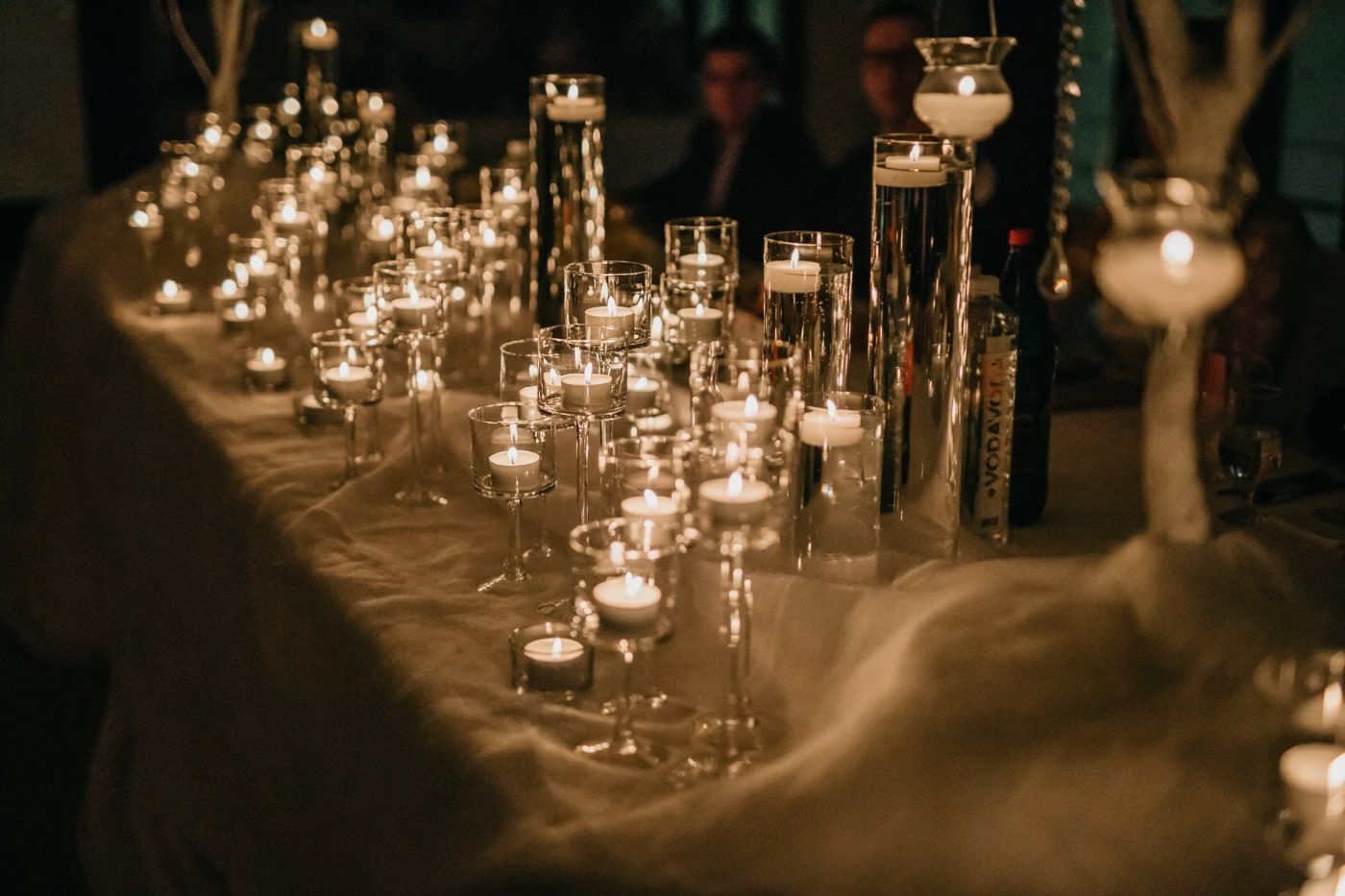 candlestick, candles, candlelight, elegance, romantic, dark, shadow, restaurant, glass, candle