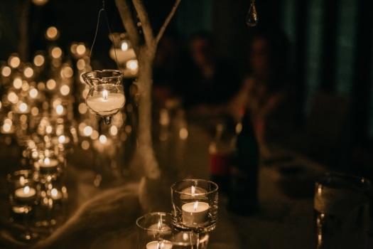 romantica, candela, candeliere, candele, partito, a lume di candela, cristallo, bianco, vetro, celebrazione