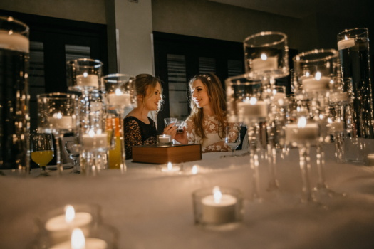 dinner table, romantic, tenderness, girlfriend, emotion, girls, candlelight, candles, glass, wine