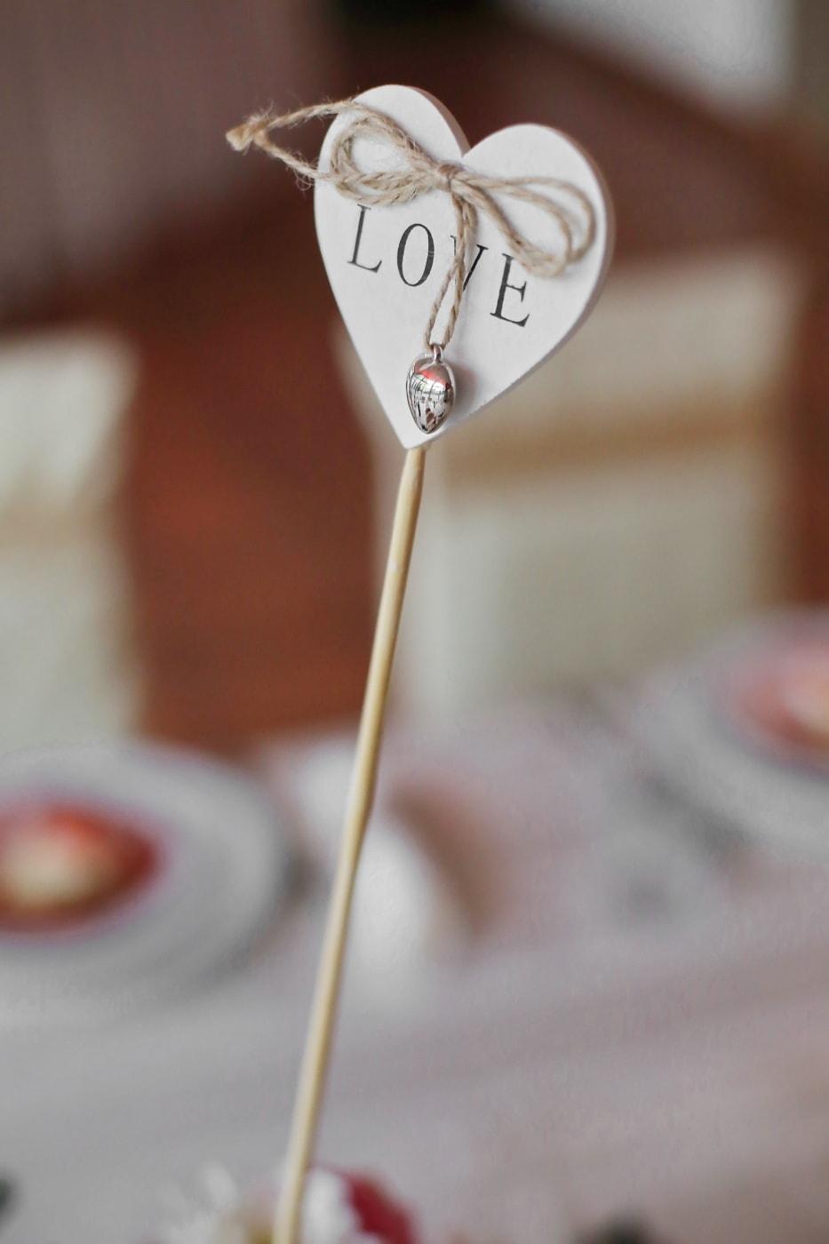 gåva, Kärlek, form, hjärta, trä, handgjorda, romantik, trä, stilla liv, oskärpa