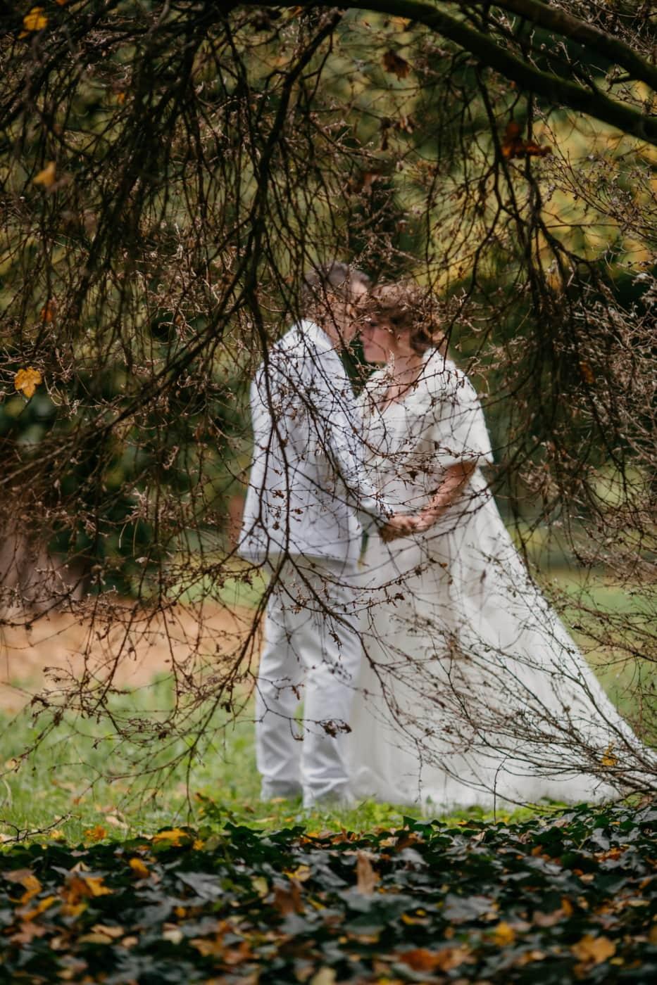 love, romantic, love date, princess, prince, groom, bride, nature, tree, girl