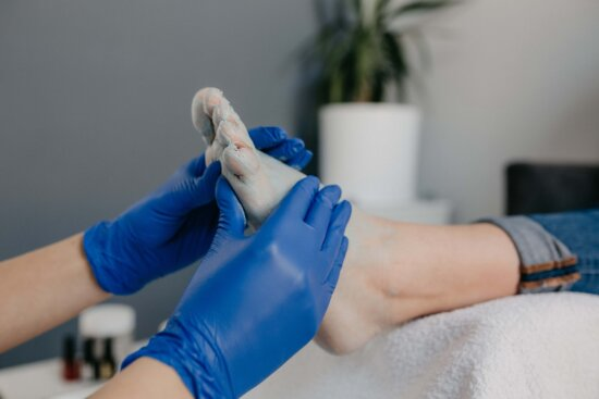 foot, massage, physician, barefoot, physical exam, doctor, gloves, people, woman, indoors