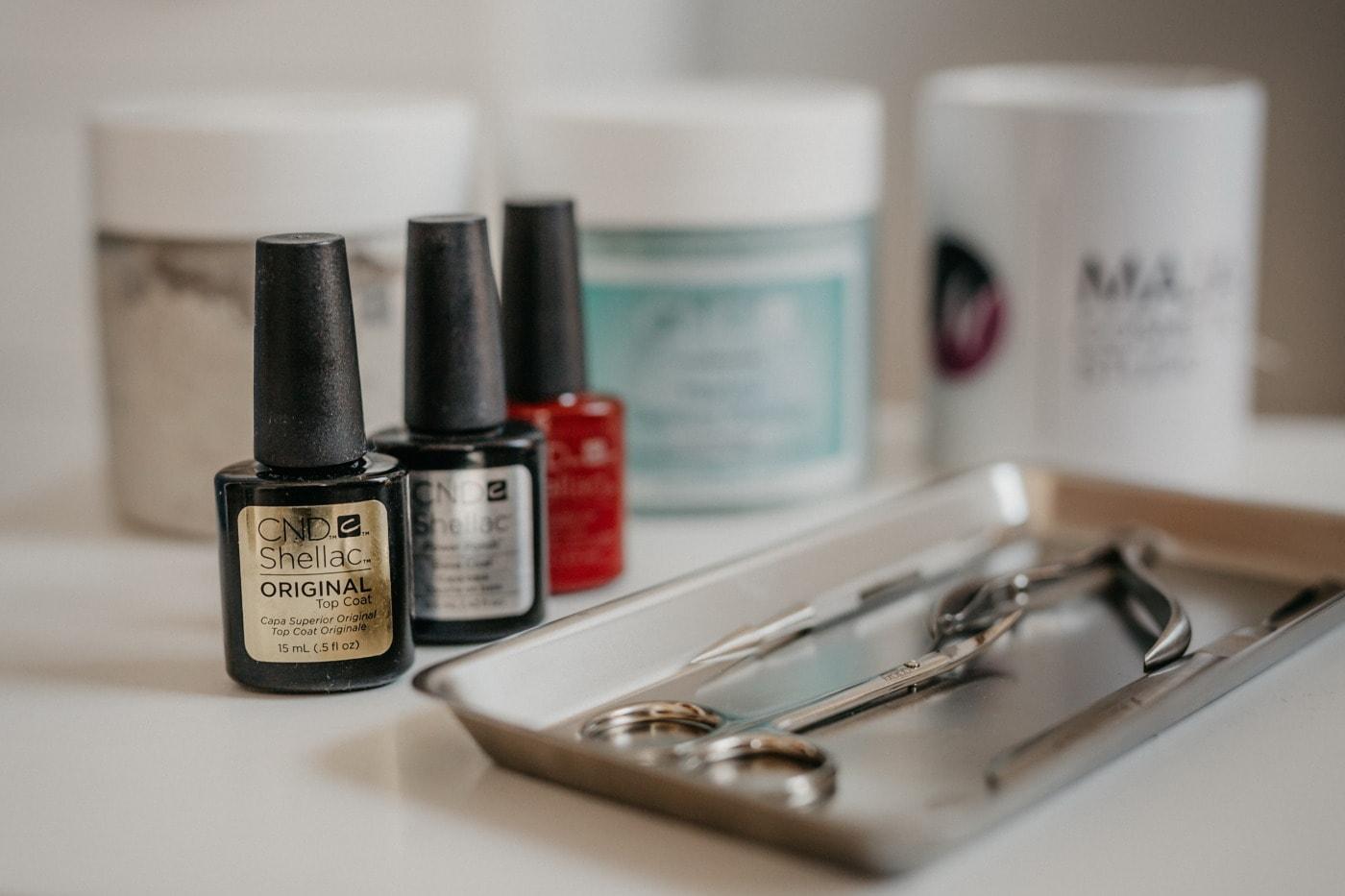 manikur, Salon, kosmetik, gunting, cat, alat tangan, profesional, di dalam ruangan, masih hidup, mode