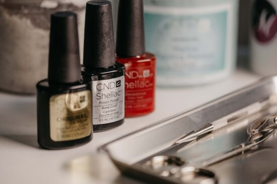 nail polish salon, manicure, scissors, paint, shop, cosmetic, toiletry, makeup, still life, treatment