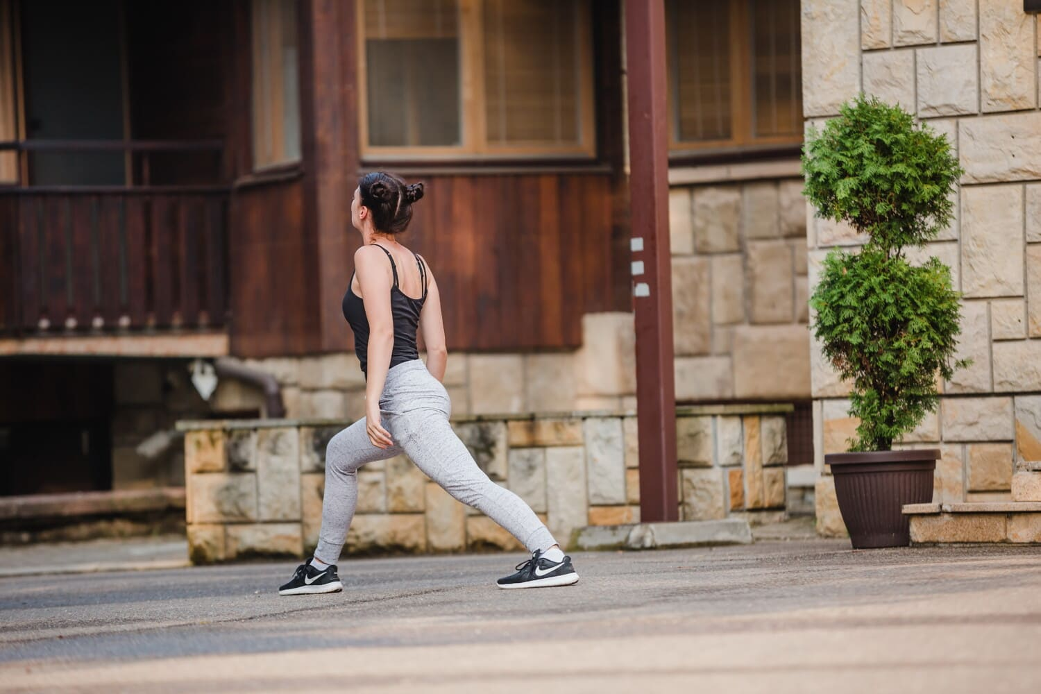 fitness, exercise, young woman, athletic, recreation, street, woman, sport, girl, architecture