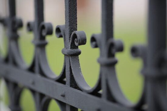 barrier, iron, fence, security, gate, old, steel, vintage, protection, focus