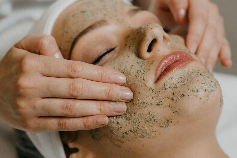 behandling, nært hold, massasje, velvære, ansikt, spa-senter, kvinne, huden, avslapning, ta på