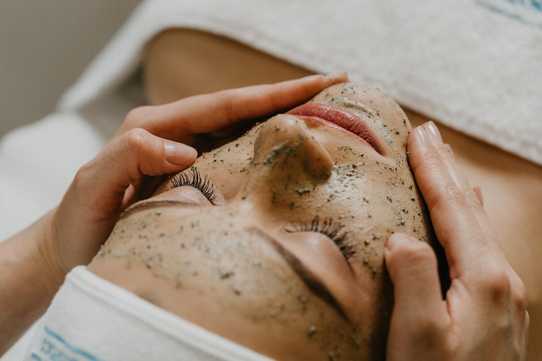 Gesicht, Behandlung, Spa-Center, Massage, Wellness, Frau, Brot, Mehl, Essen, Gesundheit