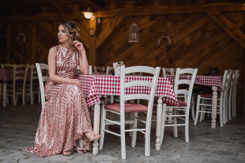 Mädchen, herrlich, Warten Sie, allein, Cafeteria, Frau, Porträt, Stuhl, Tabelle, Modell