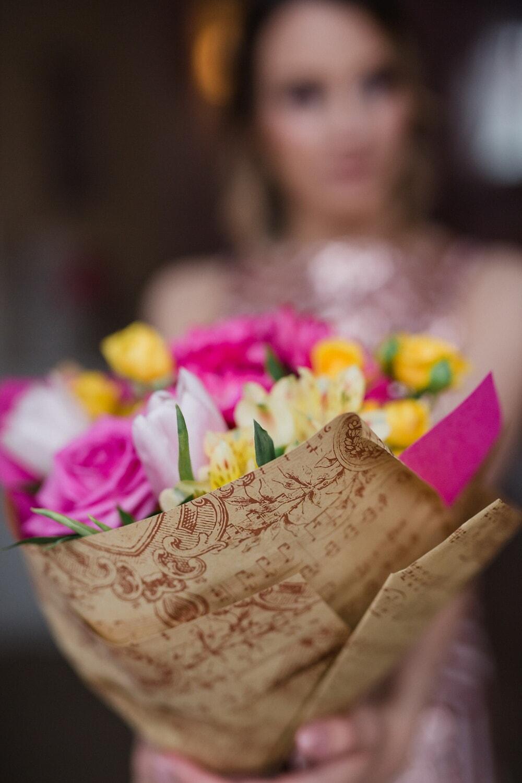 fleur, femme, amour, à l'intérieur, traditionnel, nature, romance, brouiller, Rose, élégant