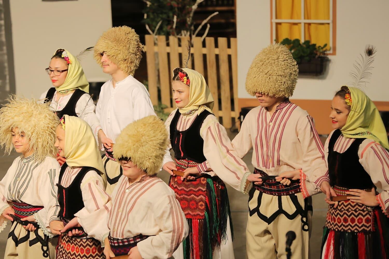 traditional, east, European, folk, music, child, people, retro, dancing, art