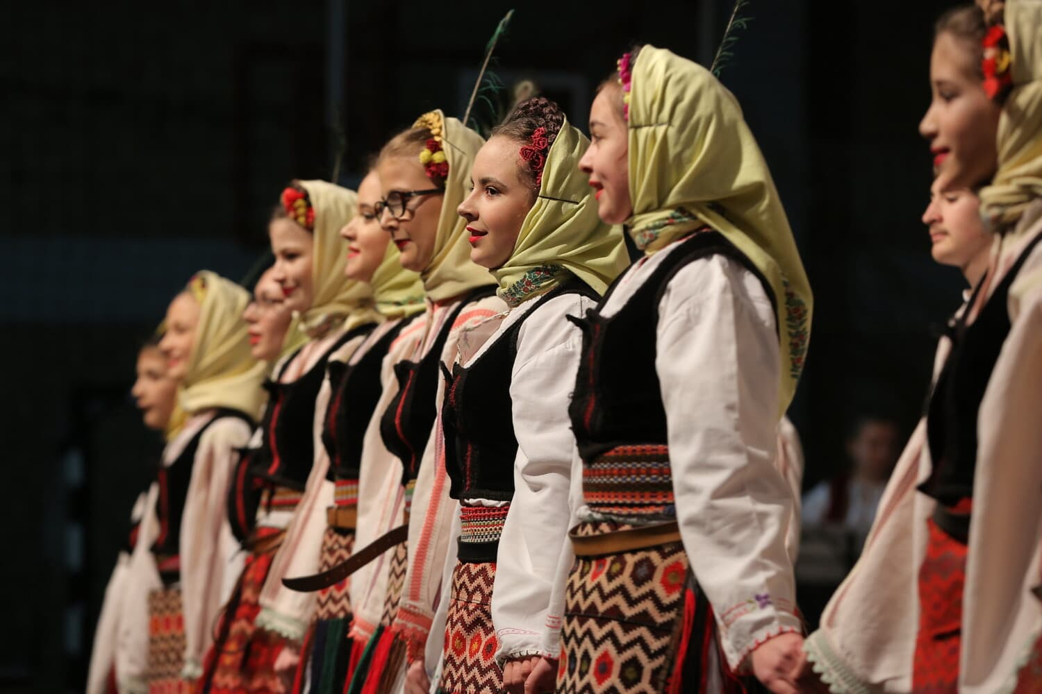 girls, dancing, traditional, folk, costume, person, fashion, woman, competition, theatre