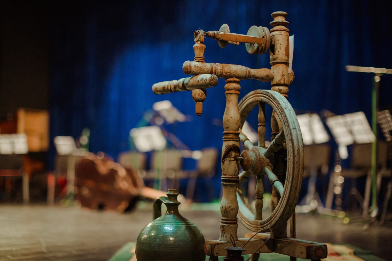 antiquity, museum, handmade, object, theatre, machine, device, old, industry, wood