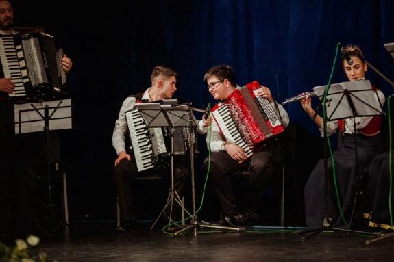 concert, musique, salle de concert, accordéon, Orchestre, performances, musicien, gens, instrument, Théâtre