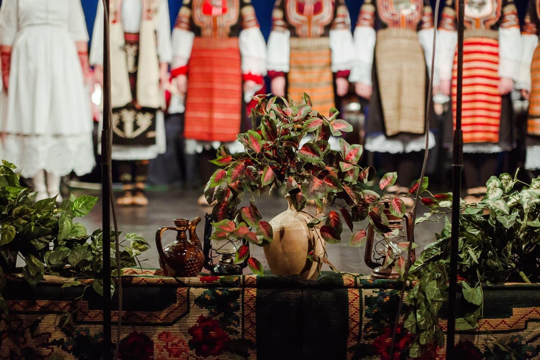 Théâtre, décoration, Pichet, fleurs, décoratifs, gens, fleur, de nombreux, Festival, art