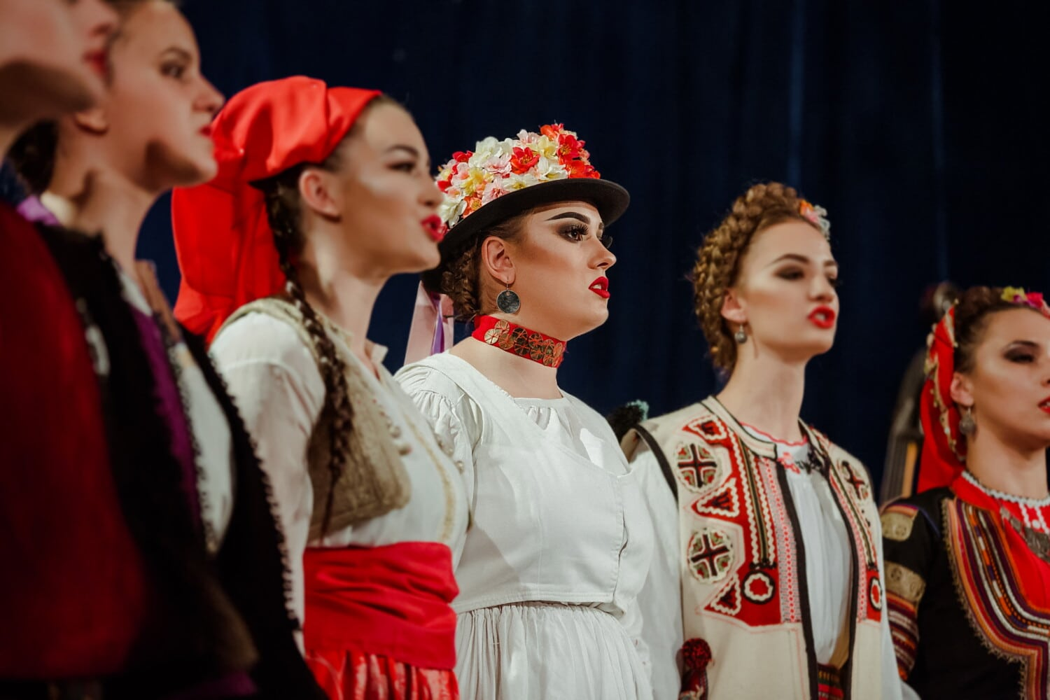 singing, women, dancing, outfit, traditional, east, European, music, theatre, innocent