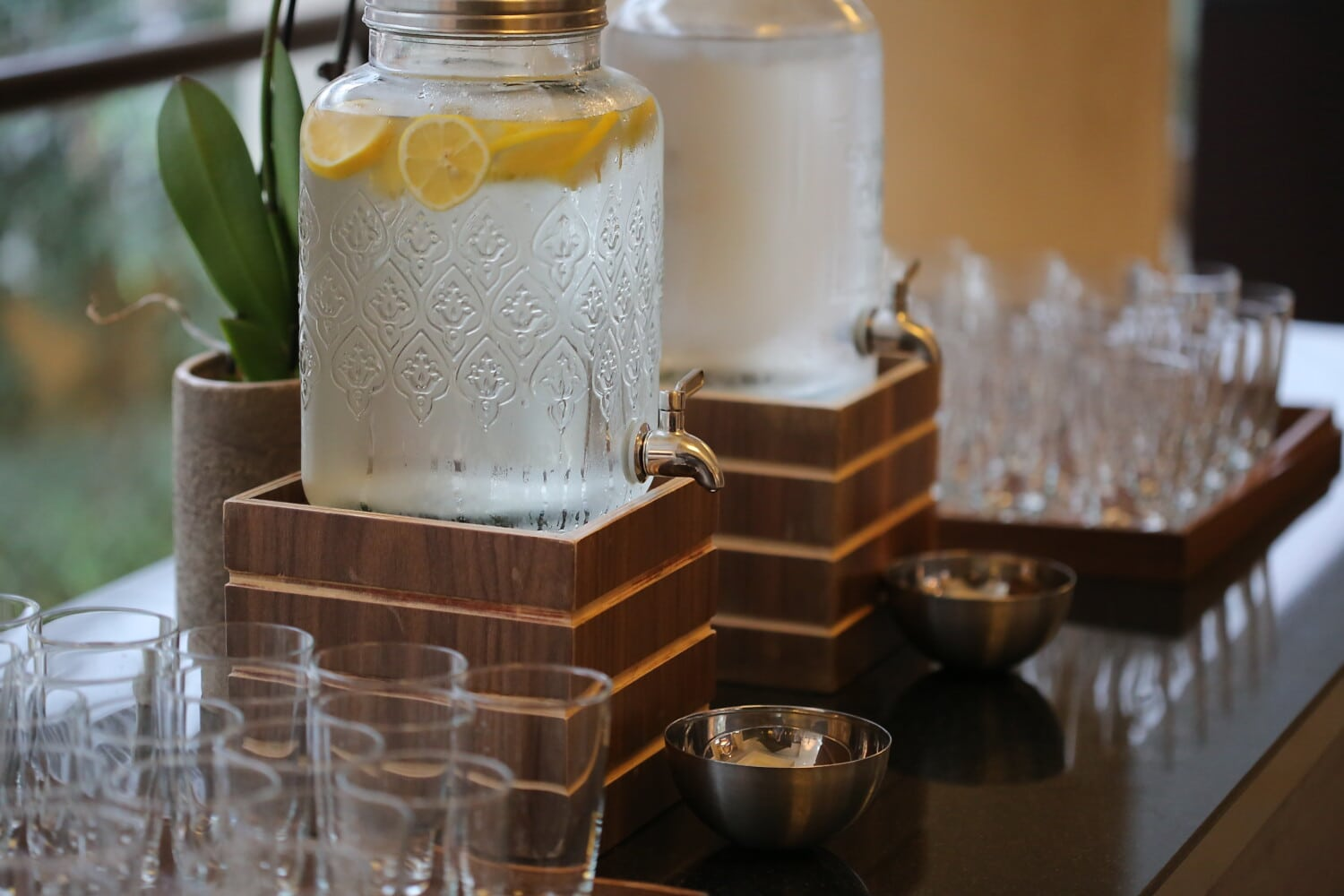 cold water, bottles, lemonade, ice water, ice, cafeteria, container, candle, treatment, luxury