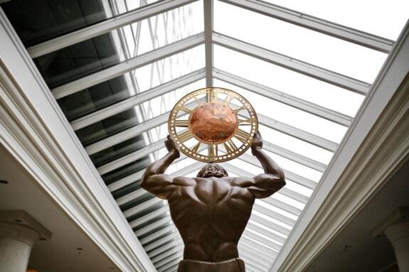 atrium, sculpture, globe, earth, column, architecture, indoors, window, building, business
