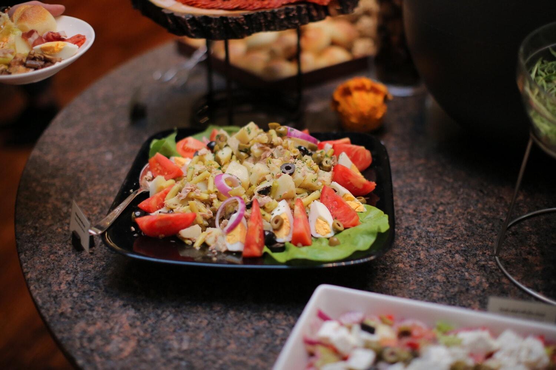 Salat, Salat-bar, Japanisch, Ei, Sushi, Gericht, Essen, Abendessen, sehr lecker, Mittagessen